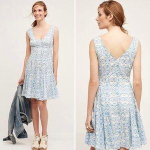 Anthro HD Paris South Island Fit & Flare Dress 4